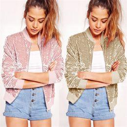 Wholesale Cashmere Blazer Women - Wholesale- Women WInter Clothes Thick Cashmere Coat Jacket Zipper Long Sleeve Warm Clothing Casual Long Sleeve Blazer Suit