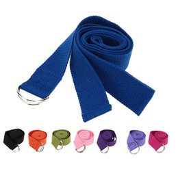 Wholesale Legging Belt - Yoga 2016 Lengthen Multi-Colors Yoga Belts Stretch Strap D-Ring Belt Waist Leg Fitness Exercise Gym Rope 183cm Yoga Belt Y1603
