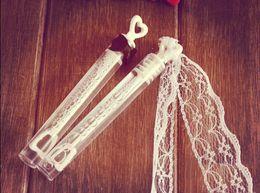 Wholesale Groom Wedding Bubble - DHL 96pcs lot EMPTY Bride And Groom Wedding Bubble Bottles Soap Water For Baby Shower Favors