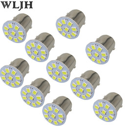 Wholesale Led Fog Lamp Lights Bulb - WLJH24V Led 1156 BA15S P21W & 1157 3528 SMD Chips External Lights Car Truck Trailer RV Brake Reverse Backup Lights Turn Signal Lamp