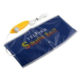 Wholesale Tummy Massage Belt - New High Quality Comfy Blue 55W Healthy Electric Quick Body Slimming Waist Tummy Sauna Massage Weight Loss Belt