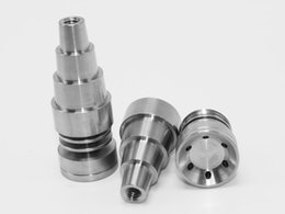 Wholesale Titanium Nail Infinity - Universal Infinity Domeless 6 in 1 Titanium Nail 10mm & 14mm & 18mm Adjustable Male or Female Oil Gr2 domeless titanium nails