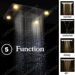 Wholesale Led Shower Head Prices - Cheap 5 Function Rain LED Shower Heads Factory Price High Quality Remote Control Rainbow Color LED Rainfall Shower Heads