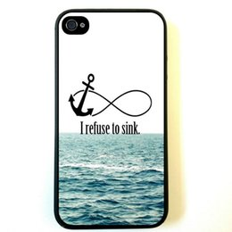Wholesale I Phones Cases 4s Wholesale - Wholesale I Refuse To Sink Anchors Hard Plastic Back Mobile Phone Case Cover For iPhone 4 4S 5 5S 5C 6 6 Plus