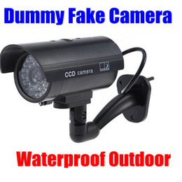 Wholesale Red Light Wireless - Fake camera Dummy Emulational Decoy Outdoor bullet CCTV IR Wireless HOME Security Cameras Flash light Red Led flashes