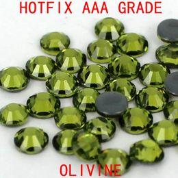 Wholesale Olivine Hotfix Rhinestones - Olivine color 08 1440pcs hotfix rhinestones crystal rhinestone with glue backing iron on perfect for clothes shoes dresses