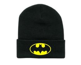 Wholesale Solid Cotton Beanie - New Winter Cap Women Batman Beanies hats and caps Unisex sports hip hop cotton knit cap gorro men