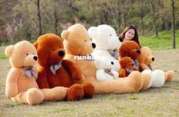 гигантский плюшевый медвежонок Скидка Гигантский размер лагер 200 см/2 м плюшевый медведь кожи пальто плюшевые игрушки игрушки мягкие игрушки подарки на день рождения Рождество 4 цвета S0140