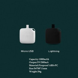 Wholesale Mini Charger Iphone Battery - Disposable Mini 1000mA One Time Use Charger Wireless External Portable Battery Power Bank Emergency Charging for IOS Samsung Android Phone
