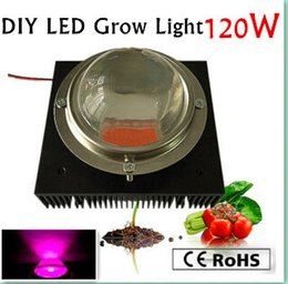 Wholesale Power Supply Fans - New Arrival 120W full spectrum led grow chip, 120w power supply,heatsink,fan and driver,optical lens build your own growing, free shipping