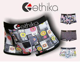 Wholesale Boxer Printing - Ethika Men's underwear boxers brief trunk hip hop rock underwear skateboard street fashion streched premium cotton quick dry