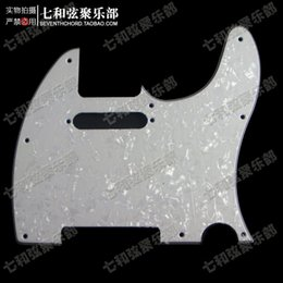 Wholesale Pickguard Ply White - White Pearl Celluloid & PVC 3 Ply Guitar Pickguard Scratch Plate for TL Electric Guitar with Screws (TXL-BZB-)
