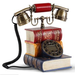Wholesale Book Dictionary - Wholesale-classical retro corded telephone personality antique household book Dictionary retro telephone 2015 home phone antique phone