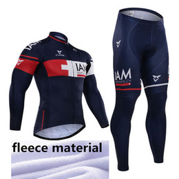 Wholesale Cream Long Sleeve - Winter 2015 Iam Team winter Fleece Ropa Ciclismo long sleeve Cycling jersey+(bib) Pants Set winter thermal fleece cycling clothing
