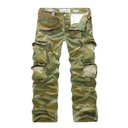 Wholesale Loose Army Pants - FG1509 Hot Selling 2015 New Summer Mens Fashion Army Camoufl Multi-pocket Pants Loose Casual Outdoor Long Cargo Trousers Cool Overall
