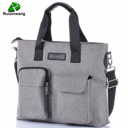 Wholesale Office Works Computers - Ruixinwang Portfolio Men's Briefcase Office Briefcase Maleta Business bag Work Bags Business Women Bag Handbag Computer Male Bag