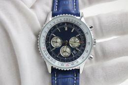 Wholesale Pin Promotions - man blue BELT date Promotion cheap Selli fashion new Mechanics brand men watch stainless steel uxury wristwatch men's Watches