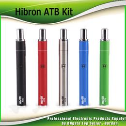 Wholesale Pe Kits - Original Hibron ATB Thick Oil Vaporizer all in one Kits 400mAh 2.2-3.8V VV Battery 1.5ohm Cartridge AIO Vape Pe kit 100% Genuine