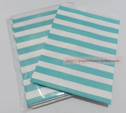 Wholesale Wholesale Glassine Bags - Wholesale 200PCS LOT Stripe Greaseproof Glassine Paper Bag For Wedding Party Food Baking Packaging Decoration GB14,12.7*17.5CM