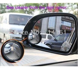 Wholesale Wide Angle Side View Mirror - 50pairs lot Car mirror new Driver 2 Side Wide Angle Round Convex Blind Spot rearview mirror for Car parking Rear view mirror Rain Shade
