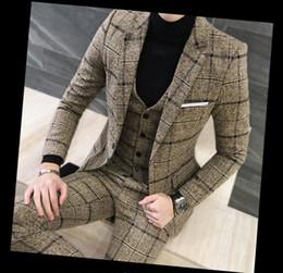 Vêtements pour hommes Costume Blazer Neige Taches Mariage Affaires Slim 3 Pièces (Veste + Gilet + Pantalon) Élégant Casual Hommes Costume ? partir de fabricateur