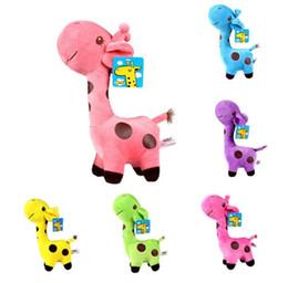 18 cm Unisex Lindo Regalo de Peluche Jirafa Suave Juguete Animal Dear Doll Bebé Niño Niño Cumpleaños de Navidad Feliz Regalos Coloridos desde fabricantes