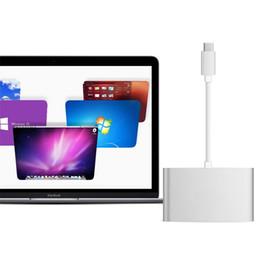 2019 accesorios de aluminio de china Hub USB 3.0 Tipo C Adaptador Convertidor multipuerto para la nueva MacBook ChromeBook Xiaomi Note2 Nexus 6 y otro dispositivo HUB de tipo C