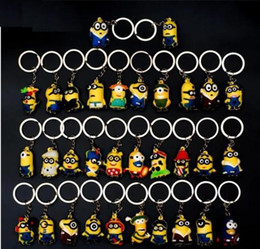 Wholesale Despicable Key - DHL 500pcs Hot Sale 3D Despicable Me Minion Action Figure Keychain Keyring Key Ring Cute Mix order 18 styles
