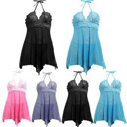 Wholesale Sexy Corset Bra Set - Wholesale- Women Sexy Sleepwear Lace Bra Sexy Babydoll Lingerie Corset With G-string 2pcs Set Dress Underwear Sleeveless V Neck Nightgown