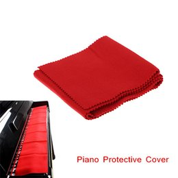 Wholesale Piano 88 - High Quality Soft Wool Piano 88 Keyboards Protective Dirt-proof Cover Durable Pure Colour Red  Pink  Beige Piano Dust Cover order<$18no trac