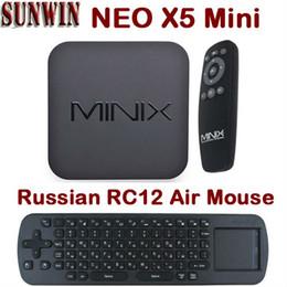 Wholesale Neo X5 Dual Core - Wholesale-Russian RC12 Air Mouse MINIX NEO X5 Mini Android TV Box RK3066 Dual Core MINI PC 1GB 8GB HDMI WIFI Media Player