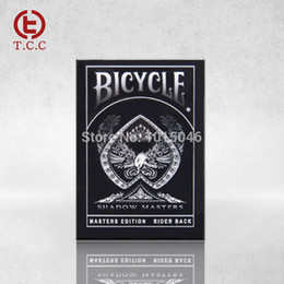 Wholesale Bicycle Deck Wholesale - Wholesale- Free Shipping 1 Deck New Bicycle Shadow Masters Playing Card Top Grade Playing Cards Creative Poker Magic Card