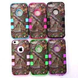 Wholesale Real Phones S4 - Real Tree Camo Cases Serie For iphone 6 Plus 4 4S 5 5S Samsung Galaxy S5 S4 Waterproof Cell Phone Case Hybrid Silicone Plastic Shell