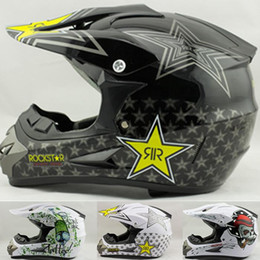Wholesale Helmet Motorcycle Bikers - free shipping factory price cascos capacete dirt biker off-road motorcycle helmet rockstar cross ATV Bicycle motocross helmets A5