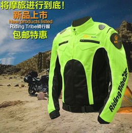 Wholesale Suit Motorcycle Jersey - Riding Tribe Motorcycle Rider jersey jacket DROP motorized brigade men Rally racing suits motorcycle clothing fluorescent reflective vests