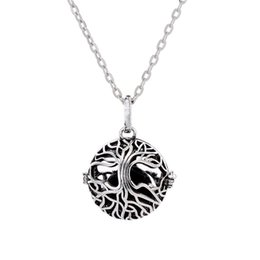 Wholesale Tree Life Pendants Wholesale - New Tree of Life Cage Pendant Lava-rock Aromatherapy Essential Oil Diffuser Necklace Hollow Out Ball Necklaces Women Fine Jewelry A399