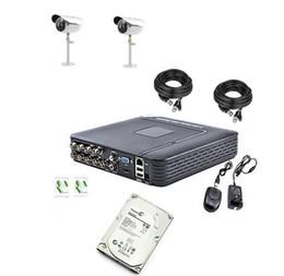 Wholesale Dvr Camera Alarm System - Seagate H.264 8CH DVR 1200TVL CCTV Home Security 2 IR Outdoor waterproof Night Camera With IR-CUT Home Alarm System 500GB HDD