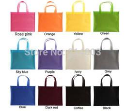Wholesale reusable bags logo - Wholesale- (500pcs lot) eco reusable non woven shopping bag with logo