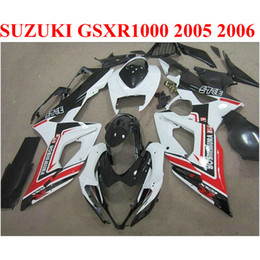 2020 kits corpo k5 Carenagens de motocicleta ABS para SUZUKI GSXR1000 05 06 kit de carenagem K5 K6 GSXR 1000 2005 2006 carenagem de preto vermelho kit E1F9 kits corpo k5 barato