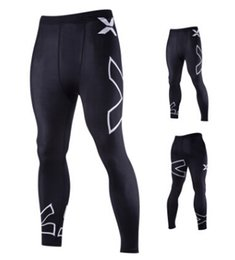 Wholesale Active Walking - Bicycle Pants Male New Men's X Alphabet Printing Elastic Tight Trousers Sports Running And Walking Pants
