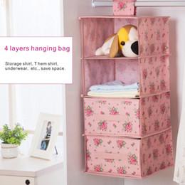 Wholesale Wholesale Closet Drawers - Collapsible multi-storey closet storage bag, increase thick waterproof hanging finishing storage box, with 2 drawer storage box.