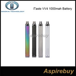Wholesale innokin itaste batteries - 100% Original Innokin iTaste VV4 Battery 1000mah Variable Wattage VW Mode 6-15W VV 4.0 E Cigarettes Battery 4 Colos Available