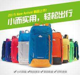 Wholesale Backpack Small Light - 2015 10 L Portable Colorful Men's Woman Sport Backpacks Travel Small Bag Students School Bag Decathlon Movement Leisure Rucksacks M226
