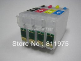 Wholesale Epson T1631 - ree Shipping T1631-T1634 Refillable ink cartridge For Epson WF-2010W WF-2510WF WF-2520NF WF-2530WF 2540WF auto reset ink compatible cart...