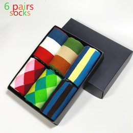 Wholesale Huf Clothing - Wholesale- 2017 Standard Cotton Hombre Casual Free High-quality Goods Delivery Man Socks, Colorful Clothes Socks (6 pairs lot) No Box