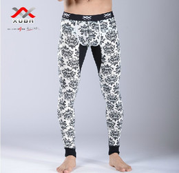 Wholesale Thin Cotton Underwear For Men - Wholesale-Men Warm Cotton Long Johns Character Pattern Thermal Underwear Thin Leggings Pants For Male Free Shipping
