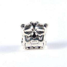 amico d'argento Sconti I migliori amici portano gli amici di fascini per sempre S925 sterling silver adatta per il braccialetto di stile pandora trasporto libero H8