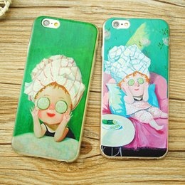 Wholesale Cases For Dolls - For iphone 7 7Plus 6 6s 6 6sPlus Mobile Phone Case Cucumber Mask Doll Phone Shell Soft Cover Silicone Phone Sets