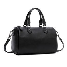 sacchetto di shopping pieghevole Sconti Borsa a mano in vera pelle di canvas e vacchetta in pelle di vacchetta