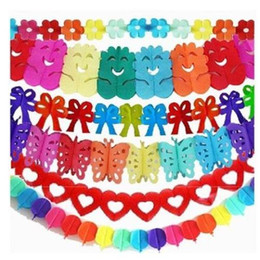 Wholesale 3m Tissue - 10pcs 3m Hanging Tissue Paper garland Wedding Birthday Party Home Decorations